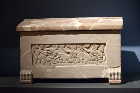 Sarcophagus of Chiusi, Tuscany. 5th century B.C Stock Photo - 16742769