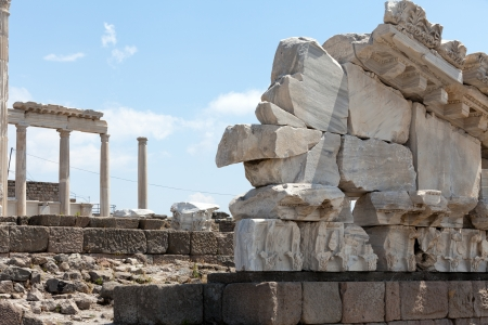 Temple of Trajan at Acropolis of Pergamon photo