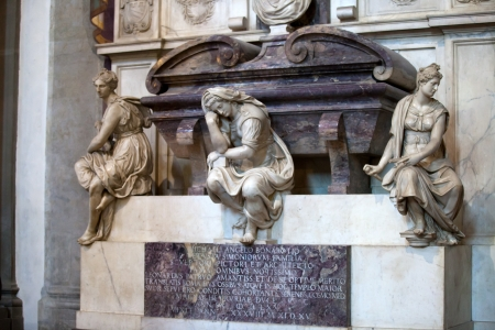 humanist: Florence - Santa Croce.Tomb of Michelangelo Buonarroti Editorial
