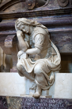 mannerism: Florence - Santa Croce.Tomb of Michelangelo Buonarroti Stock Photo