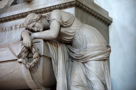 humanist: Florence - Santa Croce.Tomb of Dante Alighieri