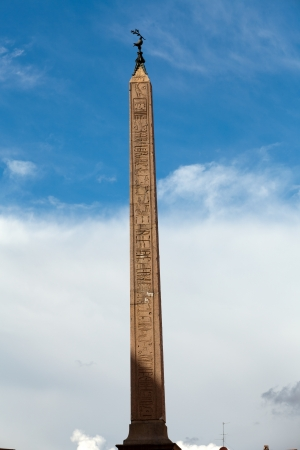 Egyptian obelisk in the middle of Piazza Navona, Rome, Italy  Stock Photo - 16962331