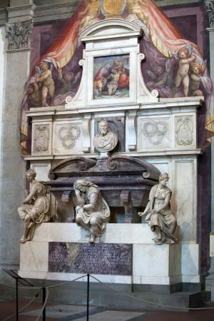 humanist: Florence - Santa Croce.Tomb of Michelangelo Buonarroti Editorial