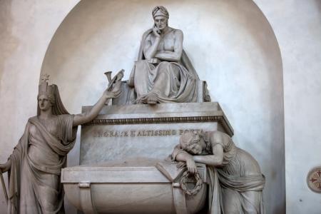 dante alighieri: Florence - Santa Croce.Tomb of Dante Alighieri