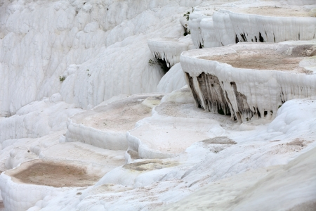 Travertine pools and terraces in Pamukkale Turkey Stock Photo - 17088428