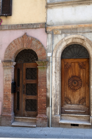 wooden residential doorway  in Tuscany. Italy Stock Photo - 17337344