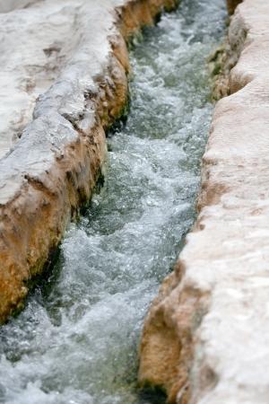 pamukkale: Travertine pools and terraces in Pamukkale Turkey  Stock Photo