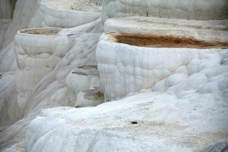 carbonate: Travertine pools and terraces in Pamukkale Turkey  Stock Photo