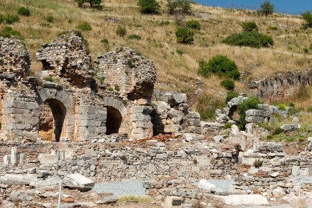 Ruins of the ancient Greek city Ephesus Stock Photo - 17939222