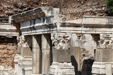hadrian: Fountain of Trajan  in the ancient Greek city Ephesus