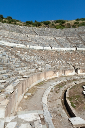 admissions: Greek-Roman amphitheater in  the ancient  city Ephesus