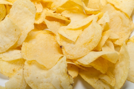 potato chips isolated on white background  Stock Photo - 18159877