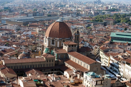 lorenzo: Florence - the view on San Lorenzo from the dome Duomo
