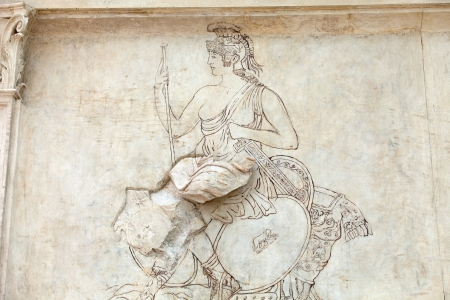 friezes: Rome - Ara Pacis, Altar of Augustan Peace Stock Photo