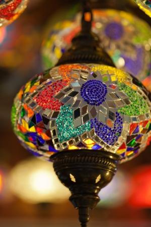 Traditional Vintage Turkish Lamp  photo