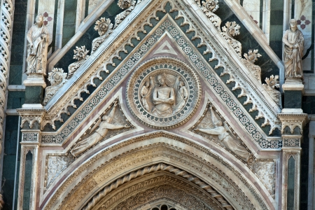 sidewall: Florence - the portal on the side-wall of the cathedral Stock Photo