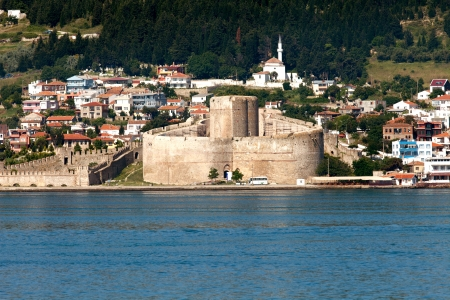 Kilitbahir Castle in Canakkale,Turkey.  The view from Asia on Europe