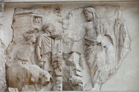 augustus: Rome - Ara Pacis, Altar of Augustan Peace Stock Photo