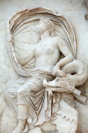 friezes: Rome - Ara Pacis, Altar of Augustan Peace Stock Photo