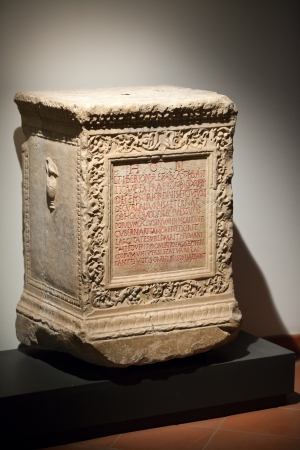 Ancient etruscan art. Sarcophagus of Chiusi, Tuscany. Stock Photo - 18792282