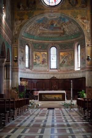 aisles: Chiusi - The Romanesque Cathedral  of San Secondiano, built around 560 AD over a pre-existing basilica, and renovated in the 13th C. It has a nave and two aisles supported by antique columns.