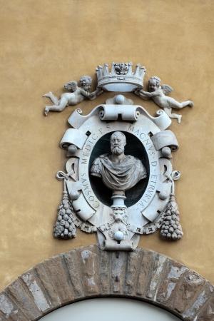 Florence - the bust Cosimo de Medici Editorial