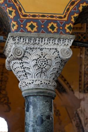 aya: Interior of the Hagia Sophia in Istanbul. Turkey  Editorial