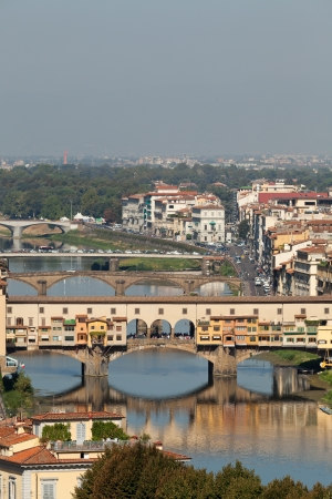 Ponte Vecchio, Florence,Tuscany, Italy .  View from the Michelangelos Piazza