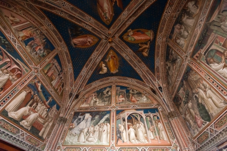 Fresco from Florence church - San Miniato al Monte