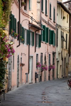 morning in the Tuscan town photo
