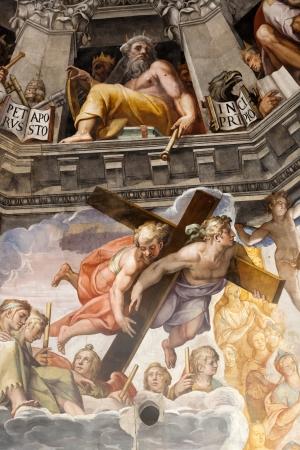 - 피렌체 두오모 마지막 심판.. 돔 내부 : 3600 조르지오 바사리와 1572년부터 1579년까지이 일 페데리코 주 카리에 의해 만들어진 벽화의 M2.