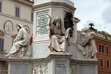 isaiah: Rome - Biblical Statues at Base of Colonna dellImacolata