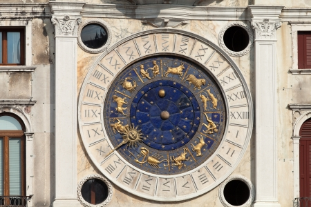 Venice, Torre dell'Orologio - St Mark's clocktower. photo