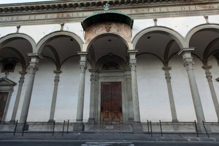 Basilica of Santissima Annunziata in Florence . Italy photo