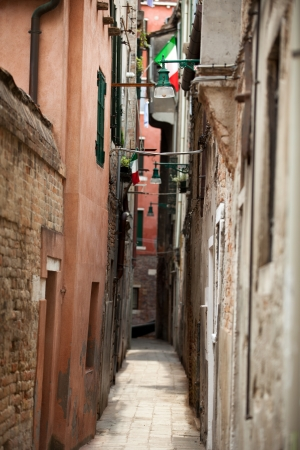 View of ancient buildings and narrow street in Venice Stock Photo - 20275260