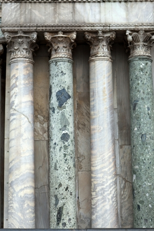 architrave: Venice -  marble columns in the portal of the cathedral of St. Mark