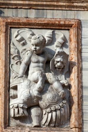 st mark: The bas-relief from The Loggetta by Jacopo Sansovino, under the Campanile di San Marco in Venice