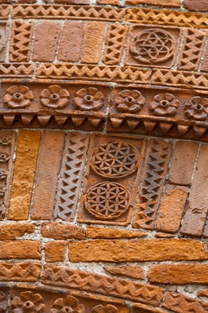 Lucca -  the architectural detail. Magnificently adorned bricks in the historic civic centre Stock Photo - 20873131