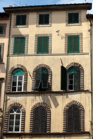 lucca:  Lucca - Picturesque and antique architecture of city center Stock Photo