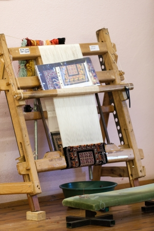 manual production of carpets  photo