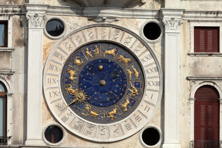 Venice, Torre dell Orologio - St Mark's clocktower. photo