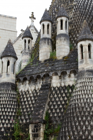 chinon: Fontevraud Abbey - Loire Valley , France Stock Photo