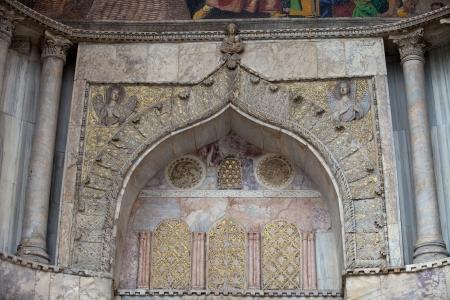architrave: Venice - main entrance to St Marks basilica