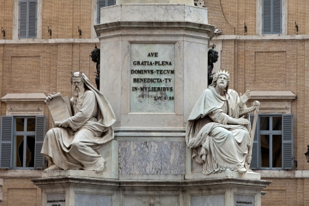 Rome - Biblical Statues at Base of Colonna dellImacolata