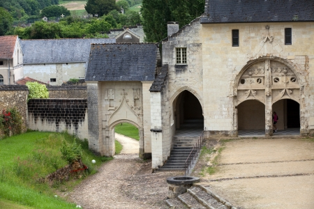 touraine: Fontevraud Abbey - Loire Valley , France Editorial