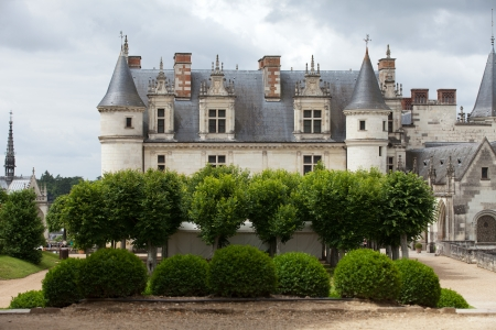 real renaissance:  Amboise castle .Valley of the river Loire. France