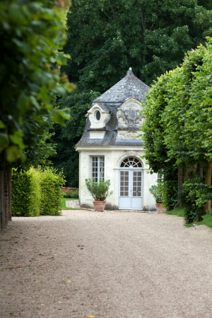usse: Gardens and Chateau de Villandry  in  Loire Valley in France  Editorial