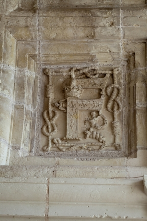 royality:  Heraldic motifs in the castle Chambord. .Valley of the river Cher. France