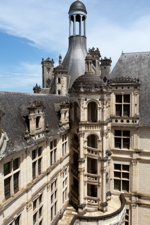 chambord: Spiral staircase in the Chambord castle, Loire Valley, France