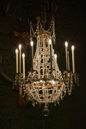chambord: The crystal chandelier in the Chambord